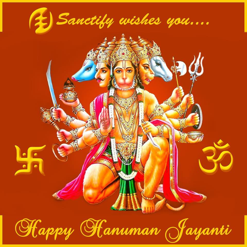 Hanuman Jayanti Facebook Post Sanctify Digital Marketing Agency Goa